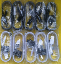 10x OEM 1.5M Fast Charge Cable for Samsung Galaxy Note 5 S6 S7 (5 White/5 Black)