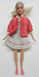 Summer-Cotton-Dress-with-Coat-and-Shoes-for-Barbie-Doll