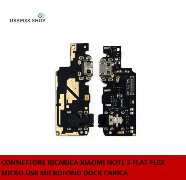 CONNETTORE RICARICA XIAOMI NOTE 5 FLAT FLEX MICRO USB MICROFONO DOCK CARICA