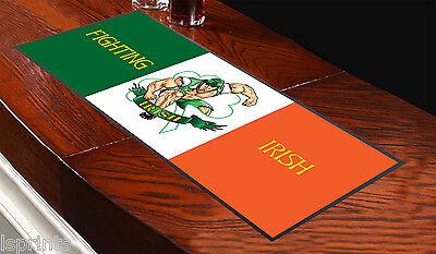 Fighting Irisch Fahne bar Handtuch Läufer Pub Untersetzer Bier Cocktail Party