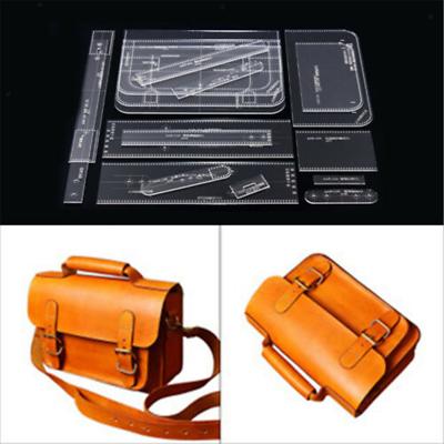 10Pcs DIY Women Lady Shoulder Bag Handbag Pattern Stencil Template Acrylic