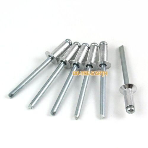 100 Pieces M5*8 Aluminum Countersunk Blind Rivet Pop Rivet Open End