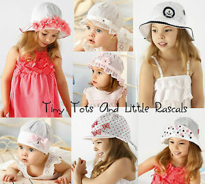 Baby-Girls-Toddlers-Summer-Holiday-Beach-Hat-Bridesmaid-Occasion-Size-0-4-years