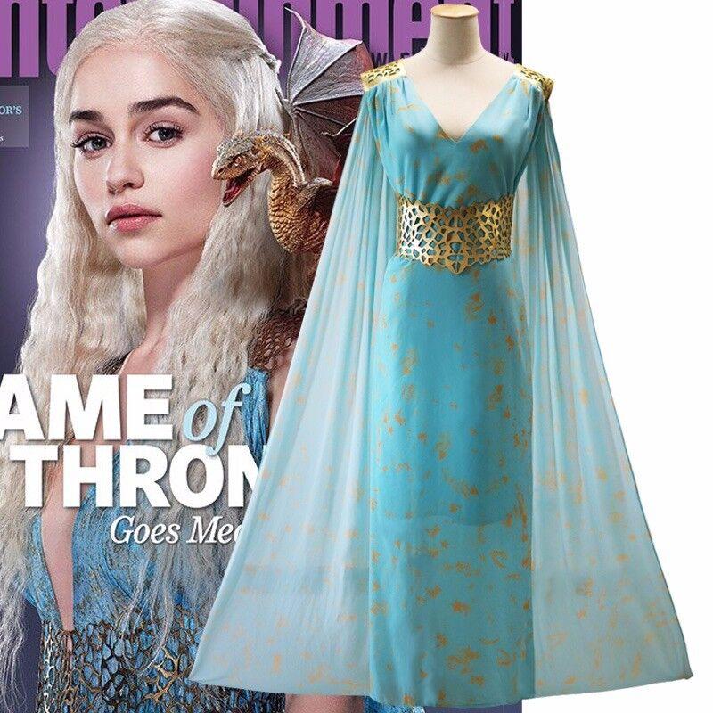 Game Of Thrones Daenerys Targaryen Dress Halloween Party Cosplay Costume US