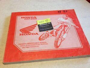 Honda-CR125R-CR125-R-cr-125-m-1991-technisches-Handbuch-Atelier-Workshop-Service