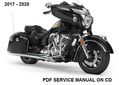 Dark Horse service manual on CD Indian 2018 Chieftain Classic