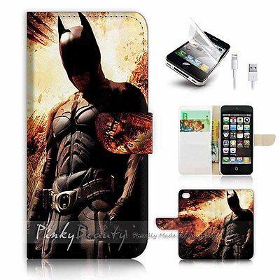 ( For iPhone 5C ) Wallet Case Cover! P1187 Batman