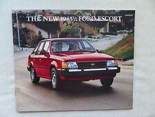 Ford USA - 1985 Escort - US-Prospekt Brochure 01.1985