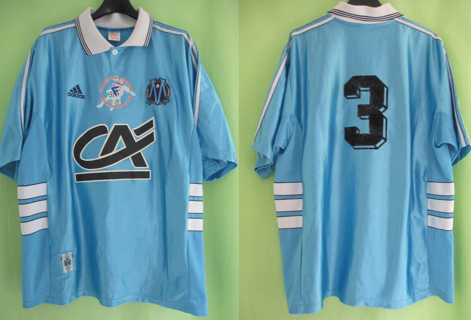 Maillot Olympique Marseille Porté  3 Championnat National OM Vintage - XL