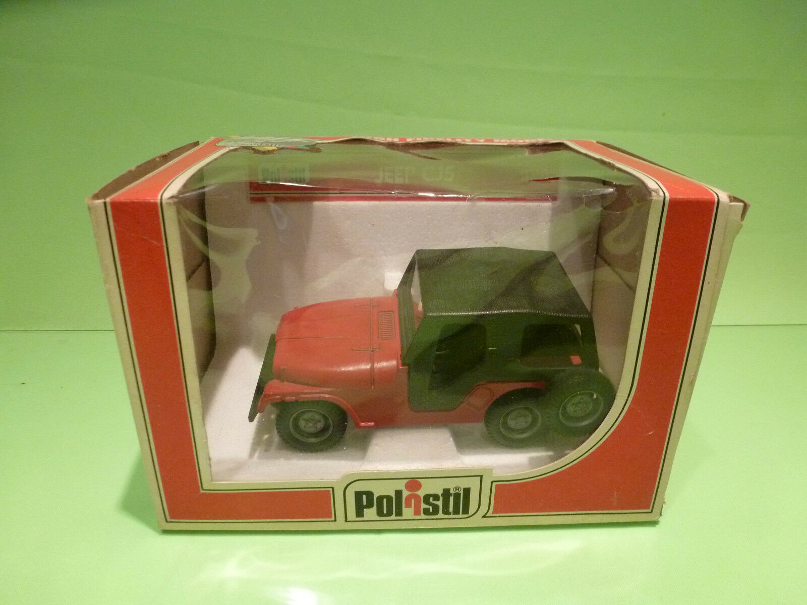 Polistil n 673 s673 jeep cj5 - rot 1  25 - sehr guten zustand in der box