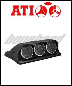 ATi-Triple-Meter-Center-Dash-Gauge-Pod-2003-2006-Mitsubishi-Lancer-EVO-8-amp-9