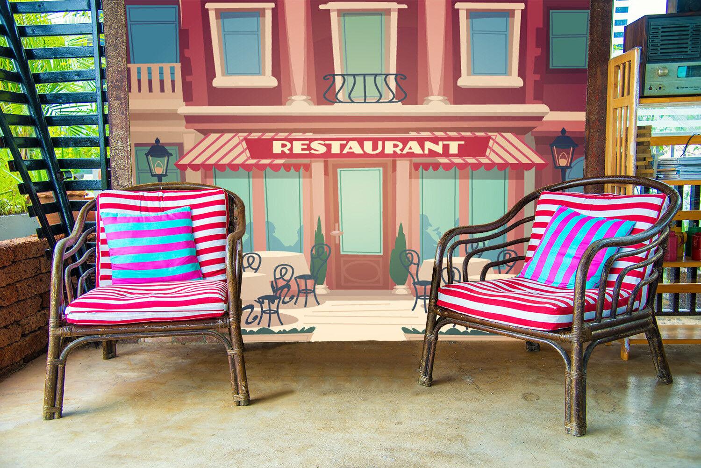 3D Gemalte Häuser Muster 7809 Tapete Wandgemälde Tapeten Bild Familie DE Lemon
