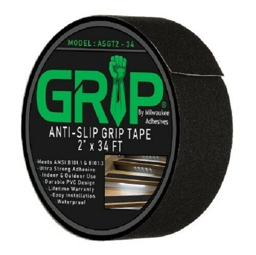 Black Non Skid Tape Roll for Stair Steps Heavy Duty Anti Slip Tape for Stairs Outdoor//Indoor Waterproof 4 Inch x 35 Ft Grip Tape Traction Tread Stair Grips
