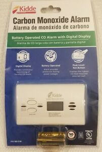Kidde KN-COPP-B-LPM Battery-Operated Carbon Monoxide Alarm with Digital Display