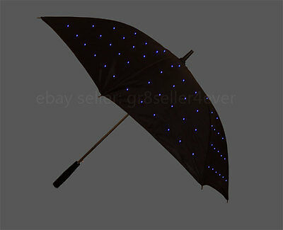 TWILIGHT DELUXE STARLIGHT LED BLUE COLOUR LIGHT UP LED UMBRELLA WATERPROOF#US