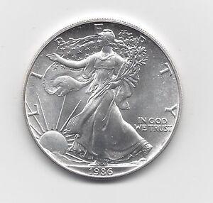 1986 1 Oz American Silver Eagle Coin One Troy Oz 999