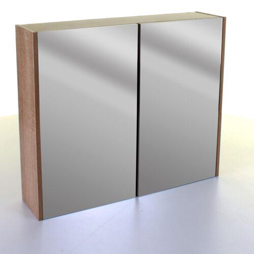 Wood Effect Bathroom Furniture Storage Cupboard Cabinet Caddy Mirror Under Sink