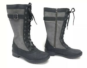 7b2850e6c7c Details about Ugg Australia Brystl Tall Boots Black Lace Up Tall Waterproof  Leather 1095158