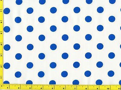 "Big 1//2/"" Medium Blue Dots on White By The Yard CSHCIR04400"