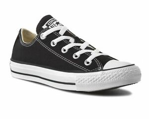 fb507740a90a Mens Converse All Star OX M9166C Canvas Womens Trainers Black White ...