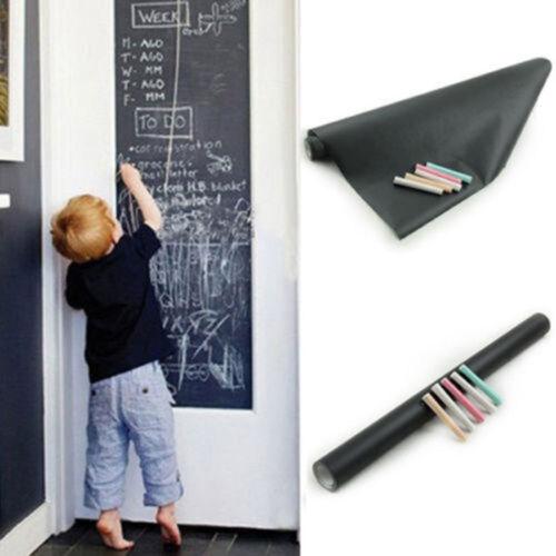 Amovible PVC Sticker Autocollant Mural Tableau Noir Ardoise Mur Enfants 45×200cm