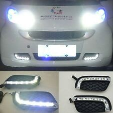 For 2008-12 Smart Fortwo 8W High Power LED Daytime Running Lights DRL Lamps Kit