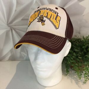 new style b99df 39e82 Image is loading Arizona-State-Sun-Devils-Maroon-White-Hat-Top-