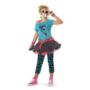 Image is loading PUNK-ROCK-TEEN-80-039-S-VALLEY-GIRL-  sc 1 st  eBay & PUNK ROCK TEEN 80u0027S VALLEY GIRL CHILD HALLOWEEN COSTUME GIRLu0027S SIZE ...