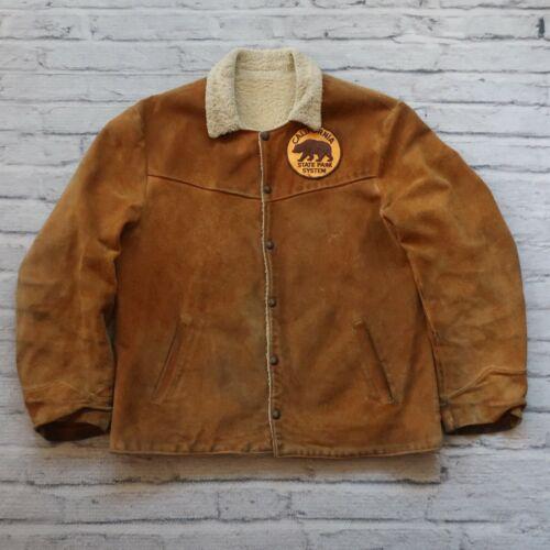 Vintage 50s Levis Big E Shorthorn Suede Lined Jack