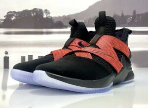 the latest 89087 cce43 Details about Nike Lebron Soldier XII Men's Basketball Shoes (Size 14)  Black / Red AO2609-003