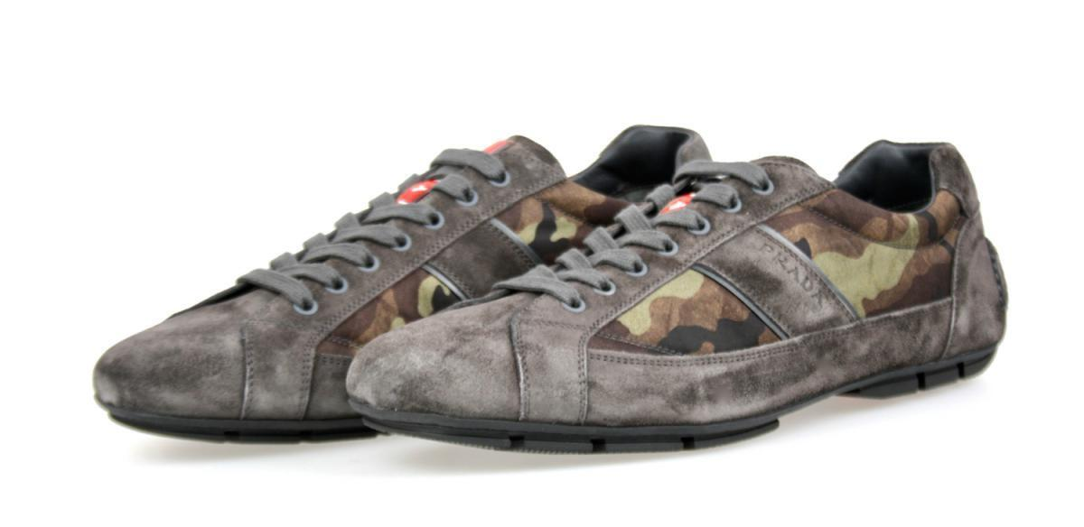 LUXURY PRADA SNEAKERS SHOES 4E2854 CAMOUFLAGE MIMETICO NEW 10,5 44,5 45