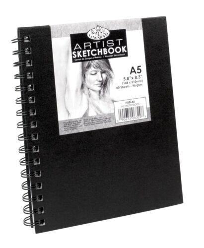 Nero A spirale Sketchbook Schizzo Pad RILEGATO Disegno Cartuccia carta da disegno