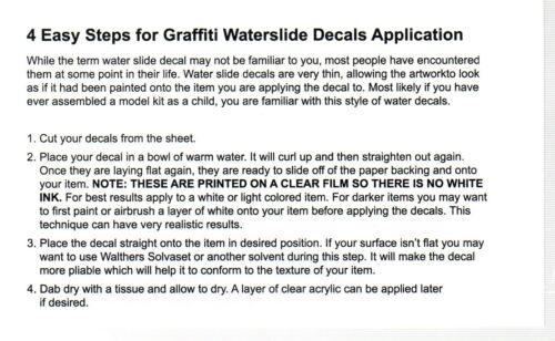 HO Scale T2 Decals HOGRAF026 Graffiti Decal Set #26