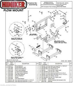 Hiniker Snowplow Mount '99-'04 S-Duty F250-350-450-550 Quick-Hitch 2 #  25012864   eBayeBay
