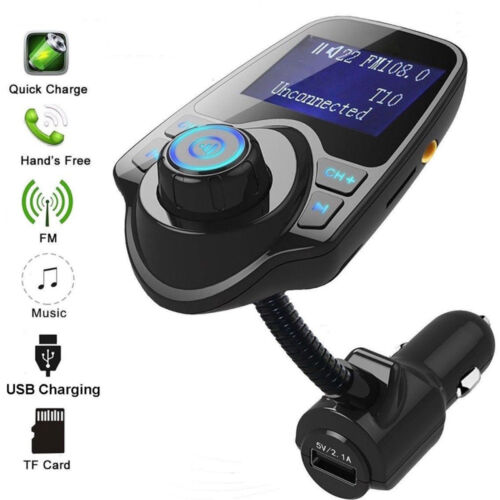 Bluetooth In Car MP3 FM Transmitter Wireless Dual USB LCD Charger Handsfree