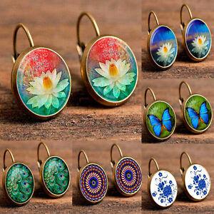 Fashion-Womens-Girls-Lady-Crystal-Rhinestone-Flower-Ear-Stud-Earrings