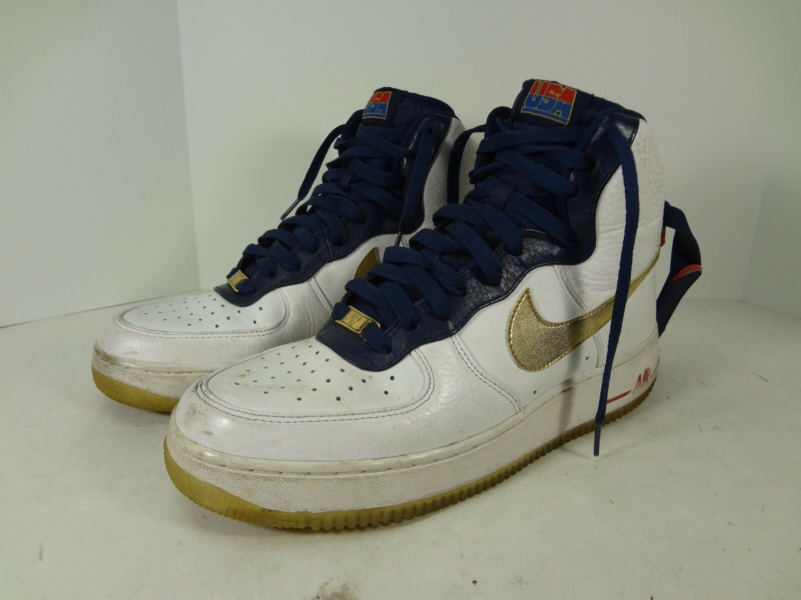 Nike Air Force 1 High Premium TEAM USA Olympic Mens 9 525317-100 DREAM TEAM