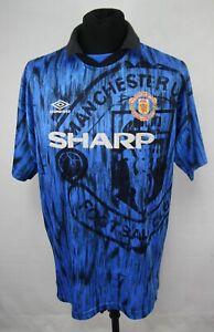 UMBRO MANCHESTER UNITED 1992/1993 AWAY Football Shirt Jersey size XL