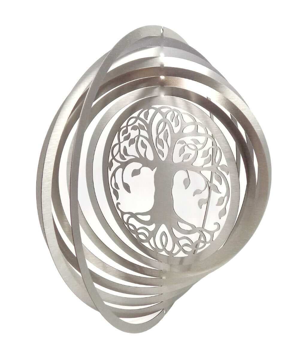 WorldaWhirl Whirligig 3D Tree of Life Wind Spinner Twister Patio Home Decor SS