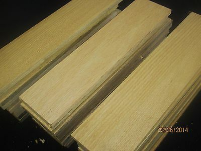 """18 Pieces 3/8"""" x 4"""" x 24""""  red oak thin boards hobby  wood"""