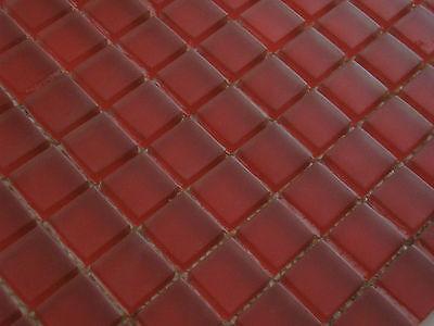 Glasmosaik Resin Rubinrot Mosaikwand Bad Küche Mosaikmatte 82-0906/_f|10Matten