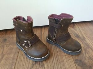 polmone Inoltrare Teorico  Timberland Boys/Girls Boots - Brown Leather Kidder Hill UK Toddler 4.5 |  eBay