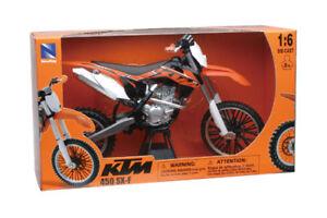 New Ray Modèle Moto Cross Ktm 450 Sx F Échelle 1: 6 Modèle Vélo Idée Cadeau
