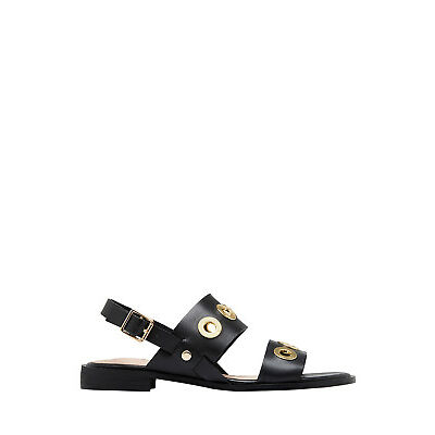 NEW Hush Puppies Relaxo Black Leather Sandal