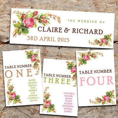 WEDDING TABLE NUMBERS - DIY TABLE PLAN CARDS -  TABLE HEADER AVAILABLE