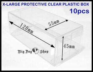 DIECAST SIZE #8 1/43 X-LARGE PROTECTIVE CLEAR PLASTIC BOX 10 PCS DIECAST CAR