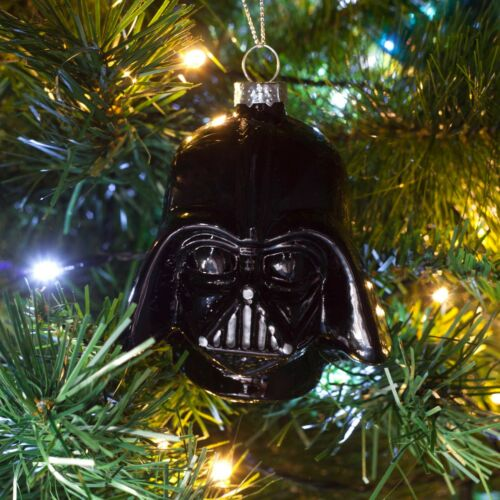 Darth Vader or Stormtrooper Star Wars Glass Christmas Tree Baubles Official