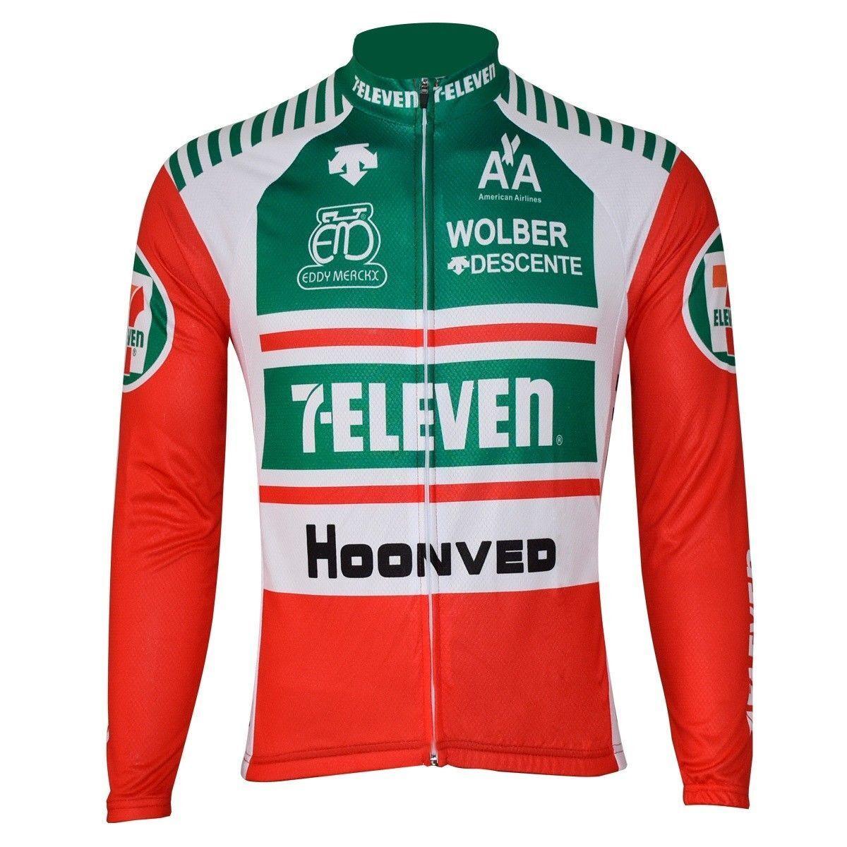 7 Eleven 1981 Cycling Jersey Retro Road Men Pro Clothing MTB Long Sleeve Bike