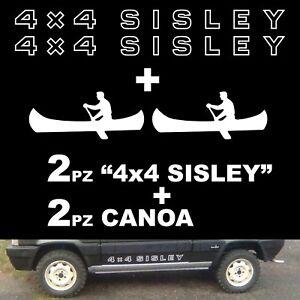 Coppia Adesivi Fiat Panda 4x4 Sisley + 2 canoe + omaggio. fedeli ad originali