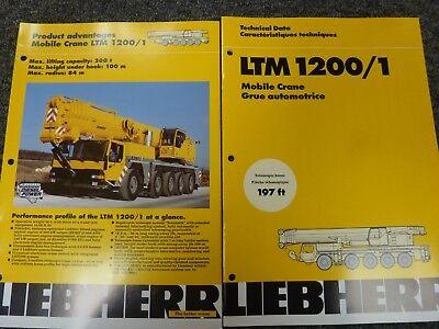 Liebherr LTM 1200/1 Crane Load Capacities Specifications Technical